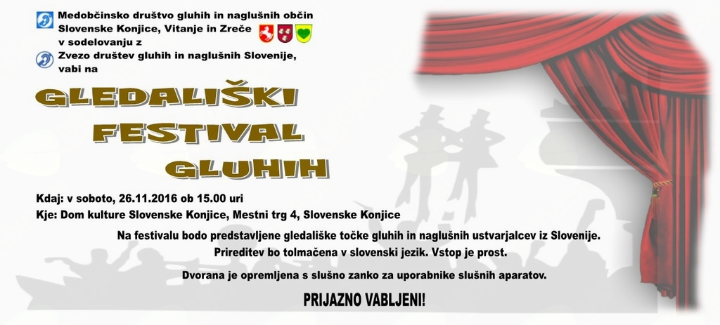GLEDALIŠKI FESTIVAL GLUHIH 2016