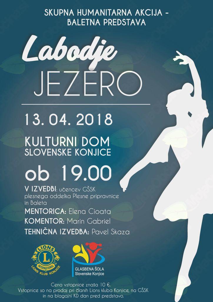 Balet Labodje jezero na odru Doma kulture