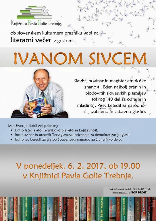 Literarni večer z Ivanom Sivcem