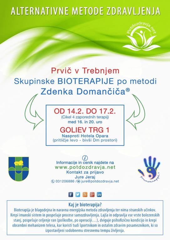 Skupinske BIOTERAPIJE po metodi Zdenka Domančiča