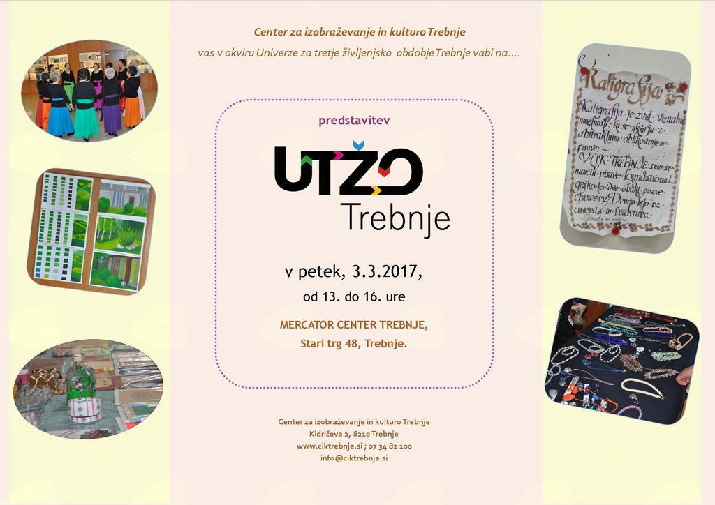 Predstavitev Univerze za tretje življensko obdobje Trebnje