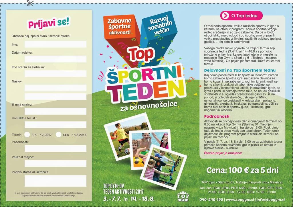 Športni teden za otroke