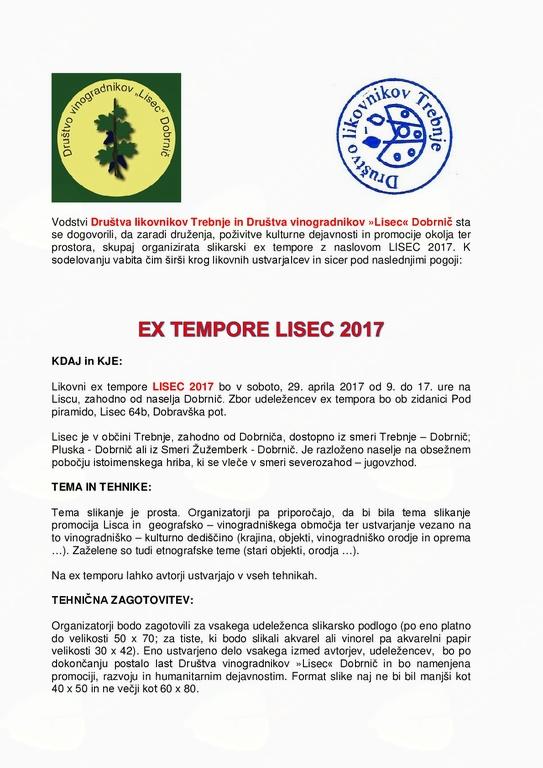 Ex tempore - dediščina na Liscu