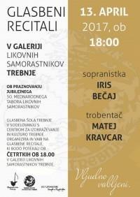Glasbeni recital: Matej Kravcar in Iris Bečaj