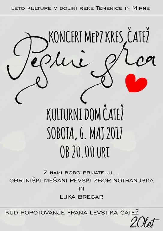 Koncert MePZ Kres Čatež