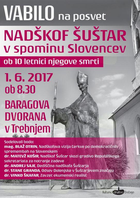 Nadškof Šuštar v spominu Slovencev ob 10-letnici njegove smrti