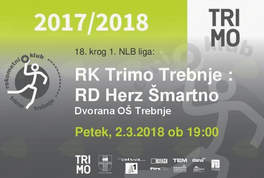 RK Trimo Trebnje : RD Herz Šmartno