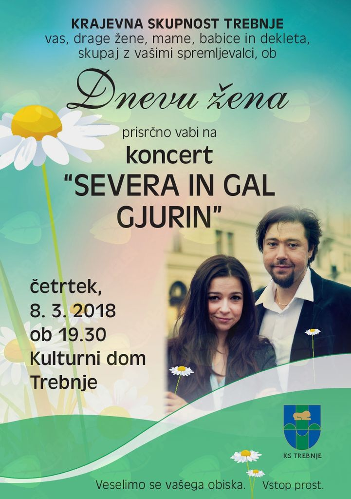Ob dnevu žena- koncert Severa in Gal Gjurin