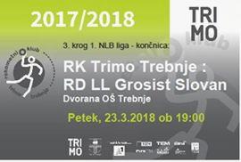 RK Trimo Trebnje : RD LL Grosist Slovan