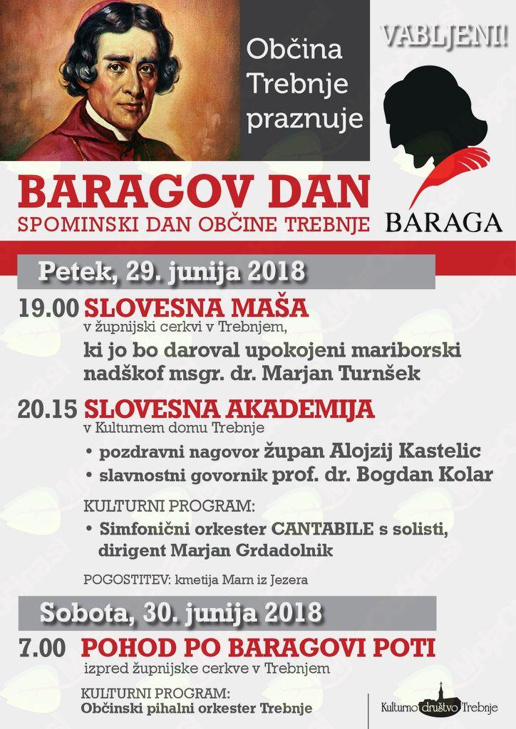 Baragov dan- slovesna maša