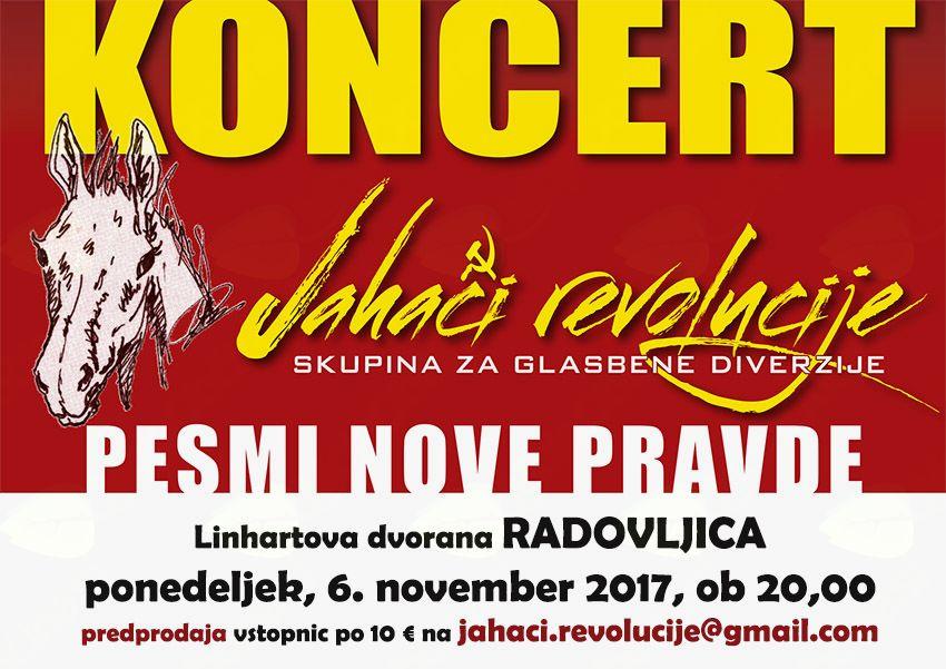 Koncert Jahačev revolucije: Pesmi nove pravde