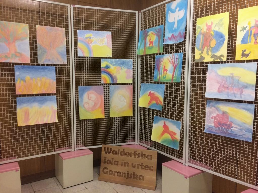Razstava likovnih del učencev Waldorfske šole Gorenjska