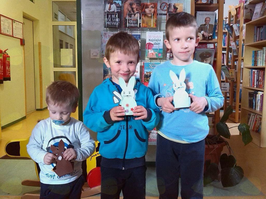 Obiskal nas je velikonočni zajček