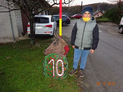 Konjerejci najmlajšemu članu postavili jubilejni mlaj