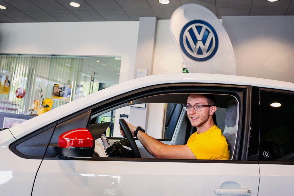 David Sever v avtomobilu Volkswagen up! beats