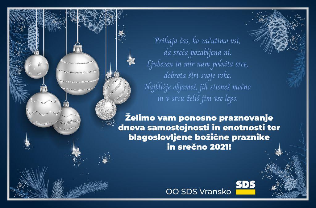 Voščilo OO SDS Vransko