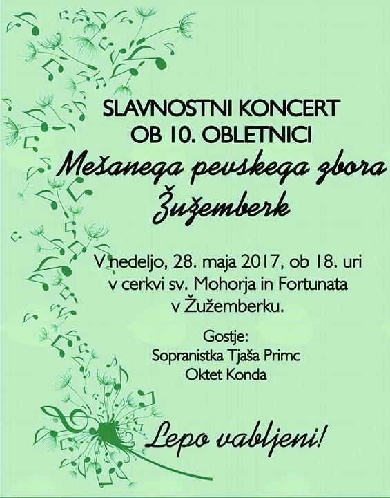 Koncert ob 10. obletnici Mešanega pevskega zbora Žužemberk