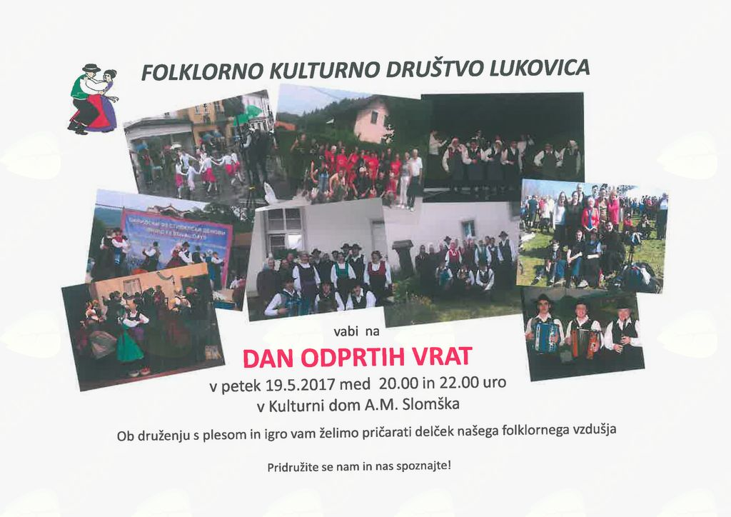 Dan odprtih vrat - Folklorno kulturno društvo Lukovica
