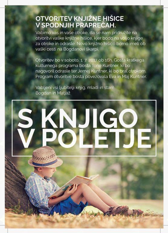 S knjigo v poletje