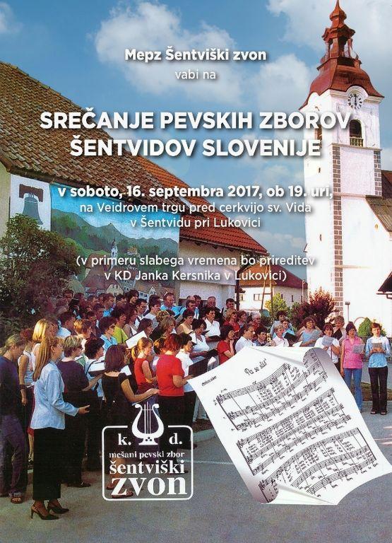 Srečanje pevskih zborov Šentvidov Slovenije