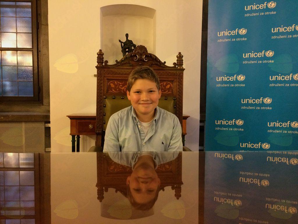 Junior ambasador UNICEF-a Tit Šenk je lani za en dan prevzel županovanje v Ljubljani.