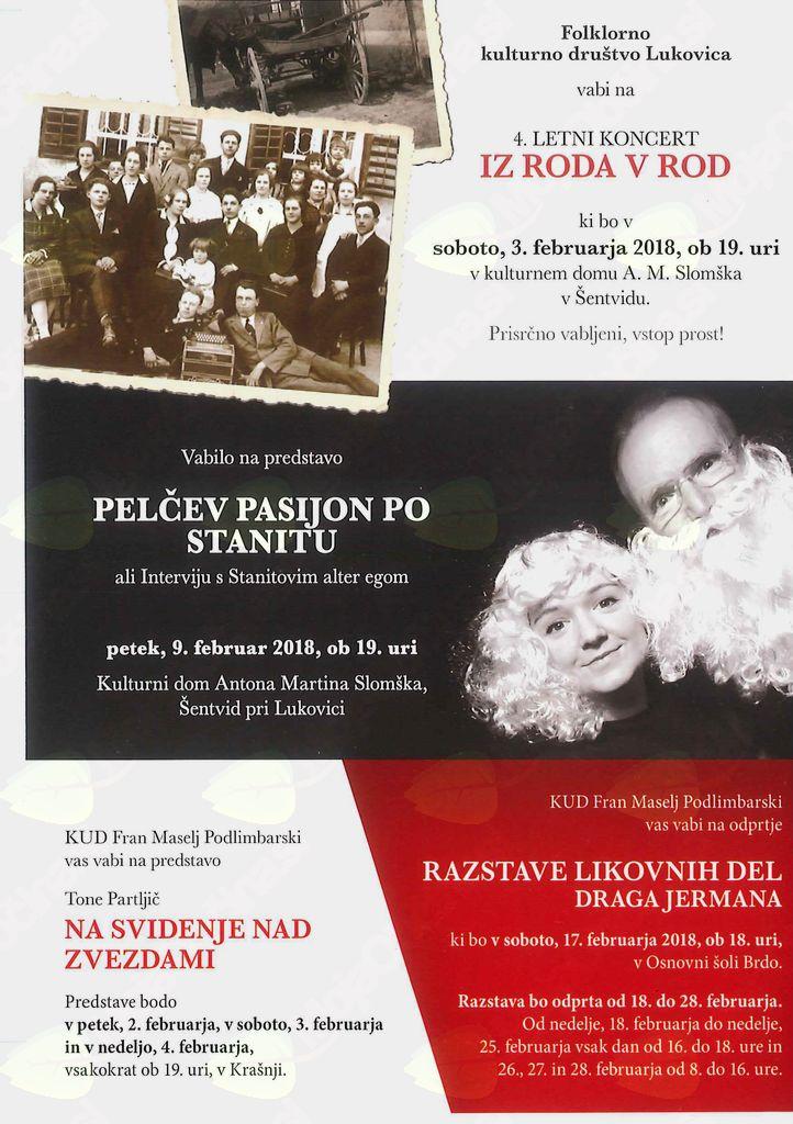 Vabilo na predstavo Pelčev pasijon po Stanitu