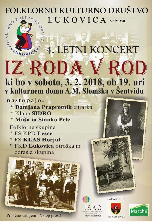 Četrti letni koncert IZ RODA V ROD