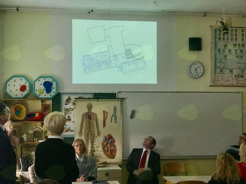 Predstavitev projekta povečanja OŠ Janka Kersnika Brdo