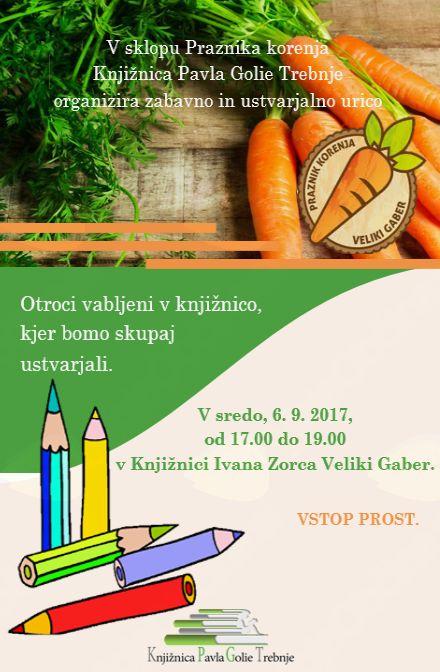 6-  Praznik korenja - Ustvarjalne urici za otroke in najmlajše