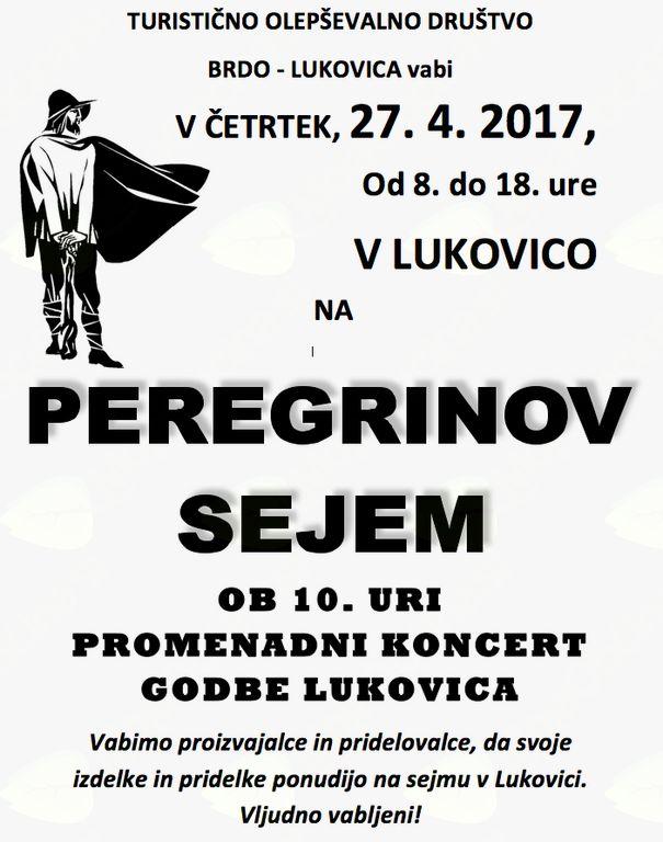 Peregrinov sejem in promenadni koncert Godbe Lukovica
