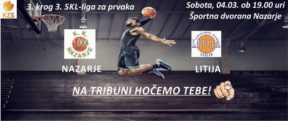 Košarkarska tekma: Nazarje - Litija