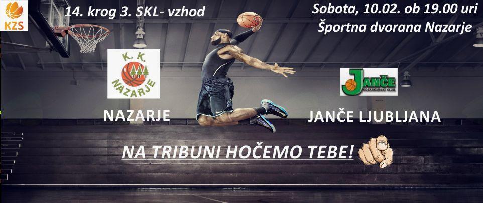 Košarkarska tekma Nazarje - Janče