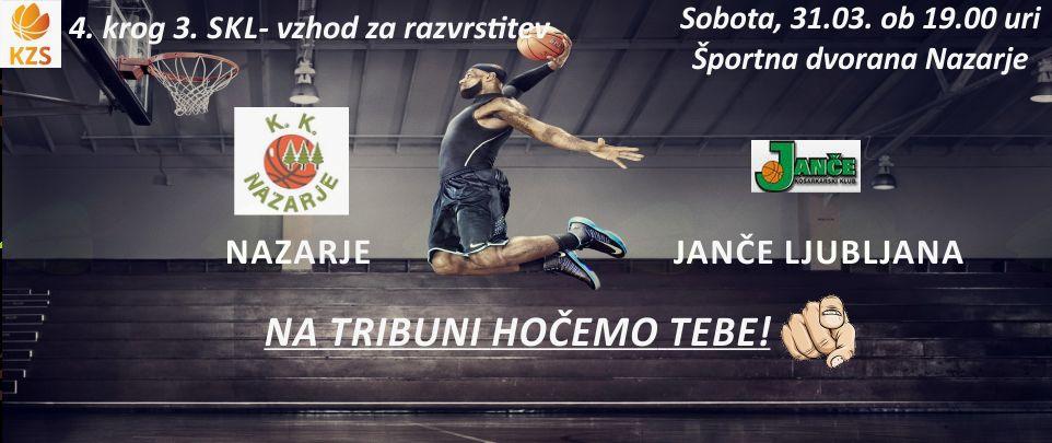 Košarkarska tekma Nazarje - Janče Ljubljana
