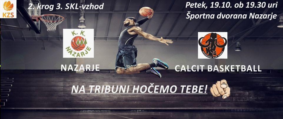 Košarkarska tekma Nazarje - Calcit Basketball