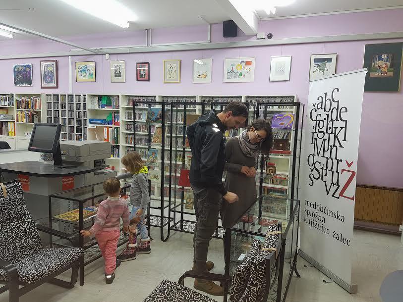 Razstava Vse barve čokolade v Medobčinski splošni knjižnici Žalec