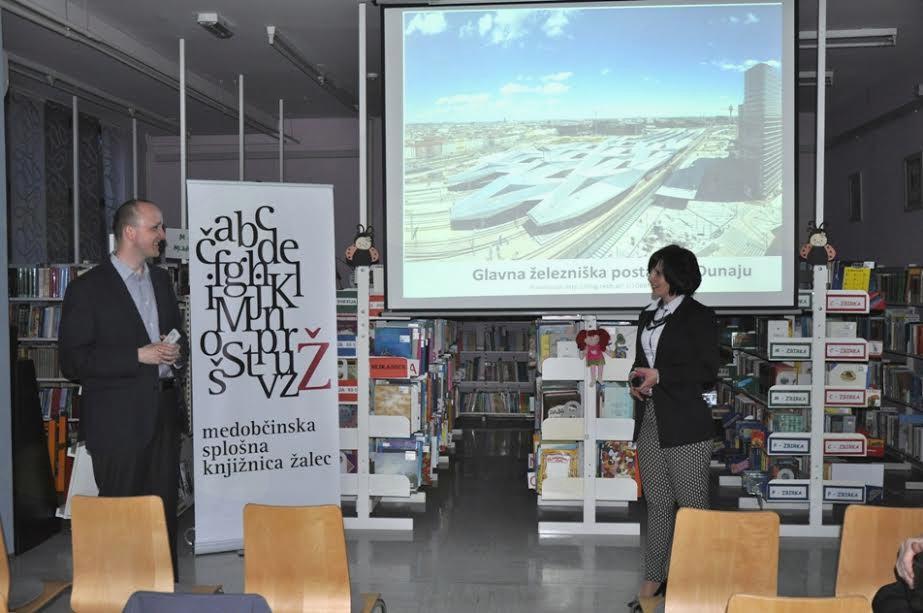 Razstava Ko železna pride cesta v Medobčinski splošni knjižnici Žalec