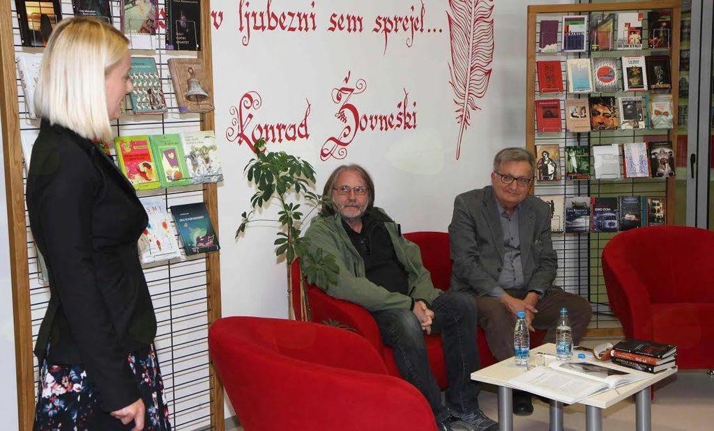 Pogovor z Vinkom Möderndorferjem v Občinski knjižnici Braslovče