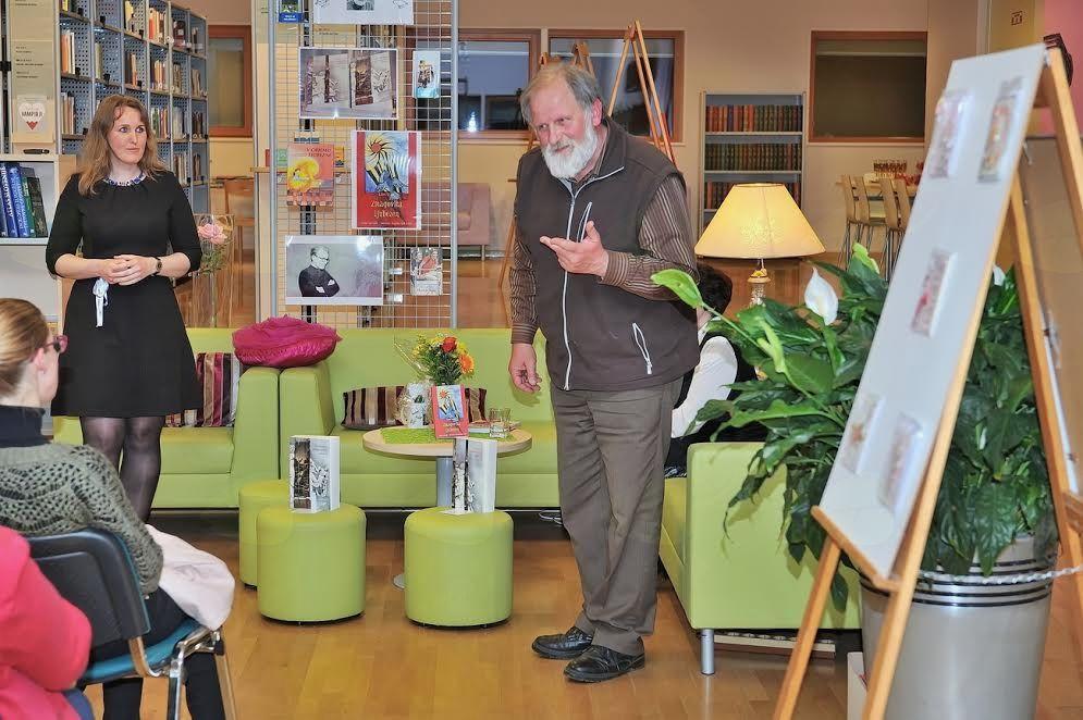 Pogovorni večer s patrom Karlom Gržanom v preboldski knjižnici
