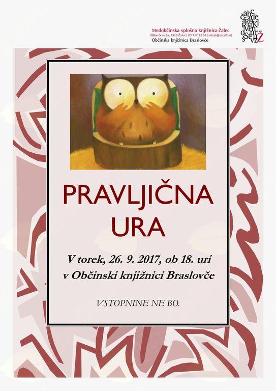 Pravljična ura v Občinski knjižnici Braslovče