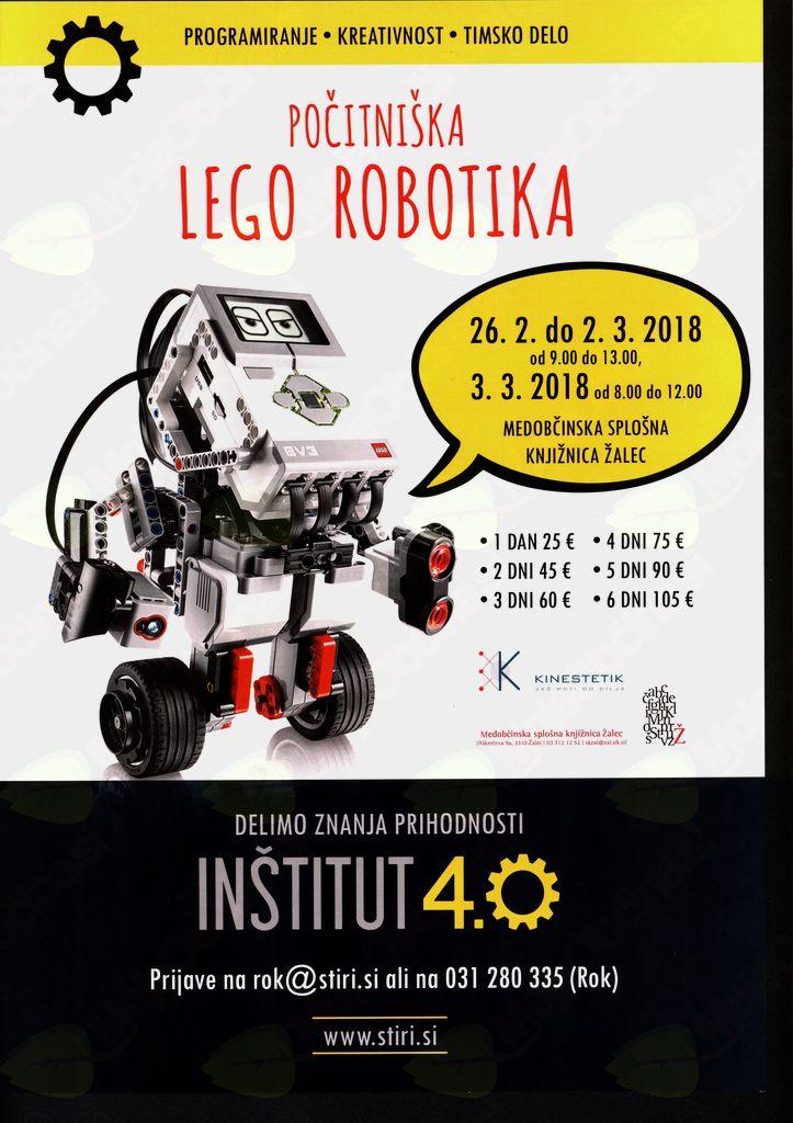 POČITNIŠKA LEGO ROBOTIKA V MEDOBČINSKI SPLOŠNI KNJIŽNICI ŽALEC