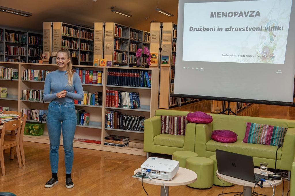 Predavanje Brigite Jeretina o menopavzi