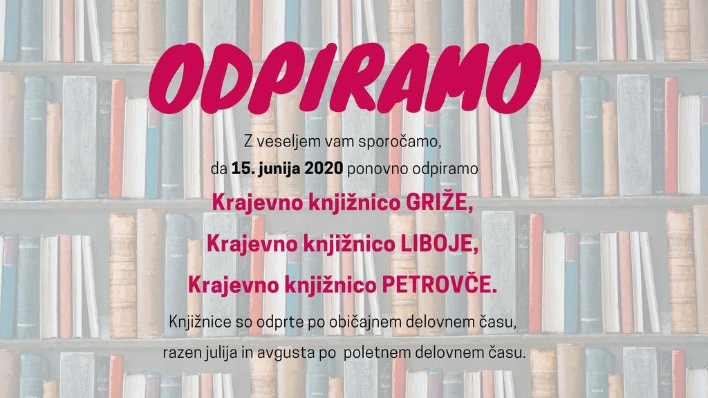 Odprtje krajevnih knjižnic