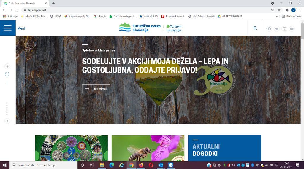 Tekmovanje slovenskih krajev v urejenosti in gostoljubnosti MOJA DEŽELA – LEPA IN GOSTOLJUBNA 2021