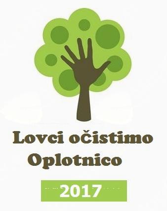 """Akcija čiščenja okolja """"Lovci očistimo Oplotnico 2017"""""""
