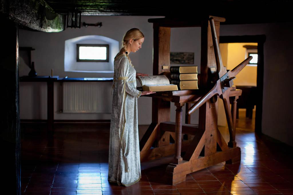 Odprtje prenovljene grafične delavnice na gradu Bogenšperk