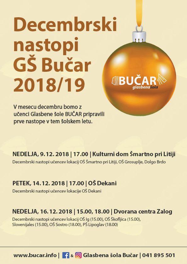 Decembrski nastop Glasbene šole Bučar