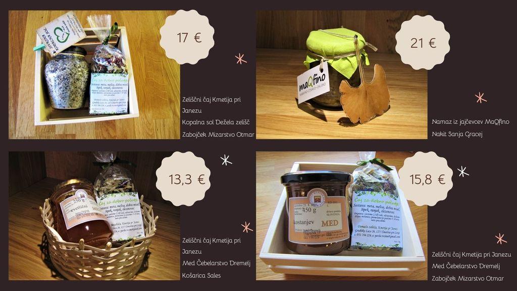 Decembrski paketki butične trgovinice v Šmartnem pri Litiji