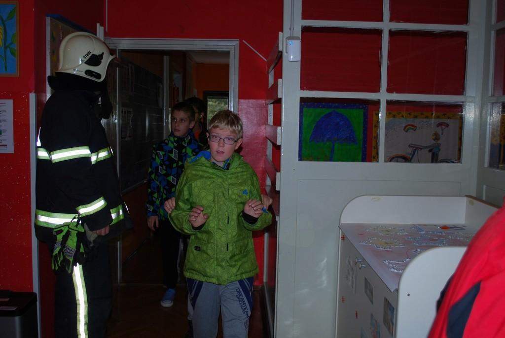 Evakuacijska vaja na OŠ Ane Gale Sevnica
