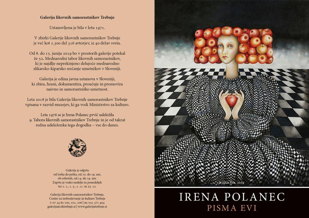 Otvoritev razstave Irene Polanec, Pisma evi