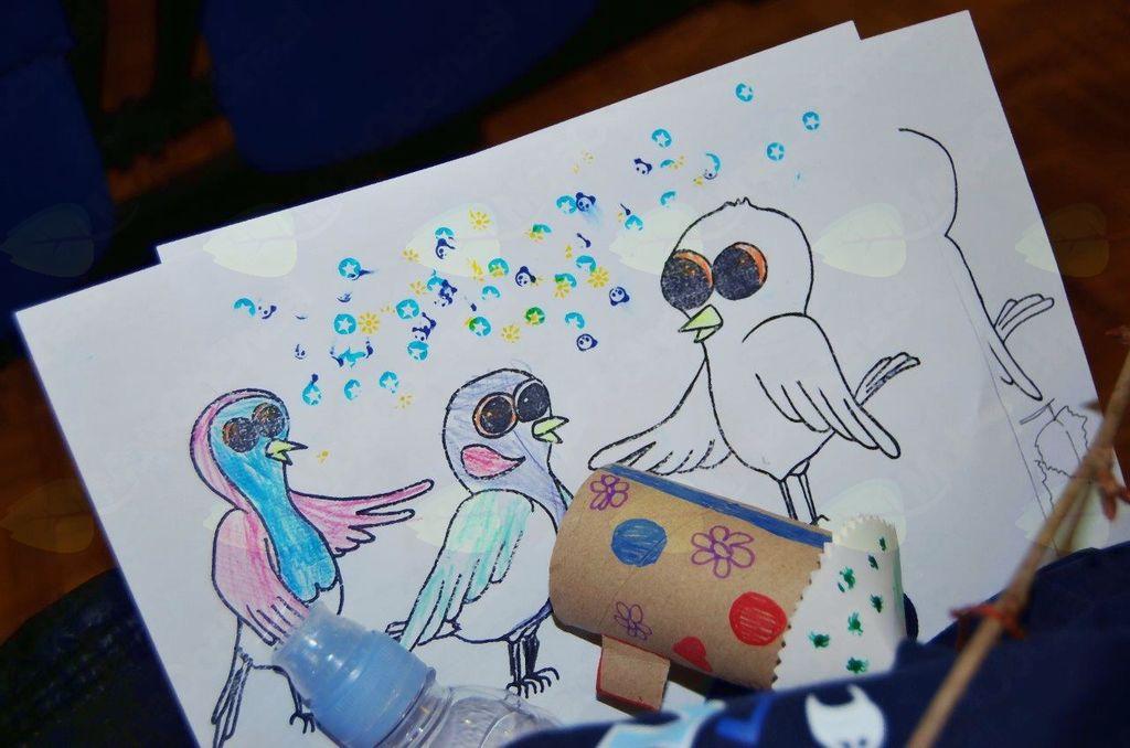 Predstavitev slikanice Radovedni vrabček